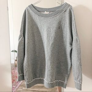 FREE PEOPLE MAKE IT COUNT GRAY PULLOVER SWEATER